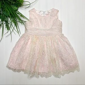 Helena Girls 18 Month Pink & Ivory Dress